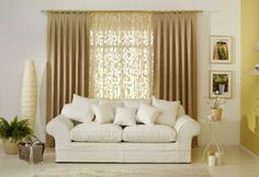 grey Yellow Curtain and Furniture Decoration