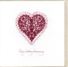 wedding card idea Heart Art, Wedding Stationery, Filigree, Wedding Anniversary, Wedding Cards, Valentines, Invitations, Stationary, Card Ideas