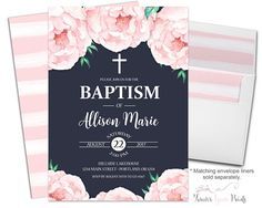 Navy Baptism Invitat