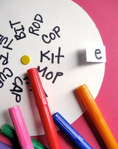 Play Flip Over Vowels! This is great for teaching short and long vowels!