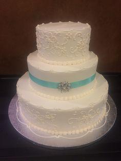 Publix GreenWise Wedding Cake.  Hyde Park; Tampa, FL.