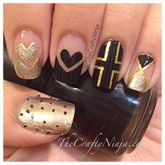 Cross Heart Nails more crosses though