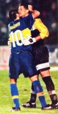 Oscar Cordoba y Juan Roman Riquelme