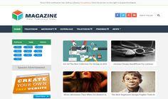 Magazine Blogger Template é um template blogger para blog de noticias, revista, tecnologia e etc. Com layout responsivo, Magazine tem 3 colunas, 1 sidebar na esquerda, 4 colunas de rodapé, menu horizontal drop-down, guias de widget, botões de compartilhamento social, posts relacionados, perfil do autor abaixo de cada post, locais para posicionar anúncios e muito mais.
