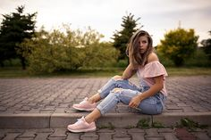 Ripped Jeans, Romwe, Minimal, Sporty, Casual, Clothing, Pink, Outfits, Style