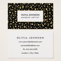 #makeupartist #businesscards - #Trendy Gold Shimmer Makeup Artist Business Cards