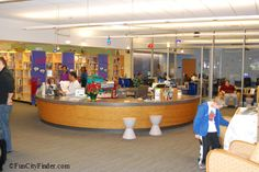 Interior of InfoZone at the Children's Museum of Indianapolis