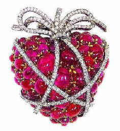 Verdura - rubies, diamonds, and white gold or platinum