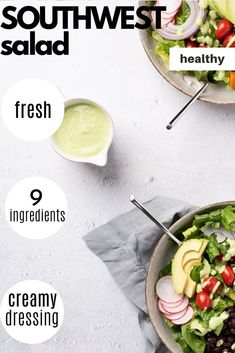 This crunchy and fresh vegan salad is perfect to make ahead. Top it with the bright and vibrant Cilantro Jalapeño Cashew Dressing! Recipe from Vegan Yack Attack's Plant-Based Meal Prep! Easy Vegan Lunch, Vegan Lunches, Vegan Meal Prep, Vegan Snacks, Salad Recipes For Dinner, Pasta Salad Recipes, Lunch Recipes, Vegan Recipes, Meal Prep Cookbook