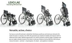 abletrader.com | Levo LAE standing manual wheelchair - power-assist stander for sale