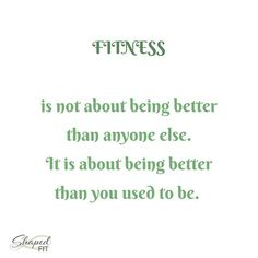 Dont compare yourself with anyone else but yourself. Track your progress through progress pictures fitness challenges and by the way you feel mentally and physically but never by the way someone else looks or lifts weight. It is about you and ONLY YOU.