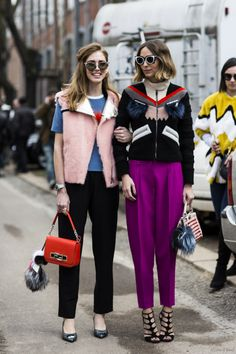 Patterns & colors in Milan Fashion Week.