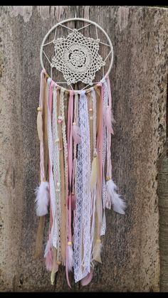 Hey, I found this really awesome Etsy listing at https://www.etsy.com/listing/269729607/pink-and-gold-dream-catcher-pink