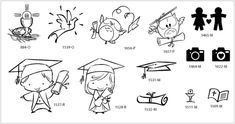 Rubber stamps set by Impronte d'Autore, mounted on wood and based on a theme. SPECIAL OCCASIONS 39 - 13 designs, 3x