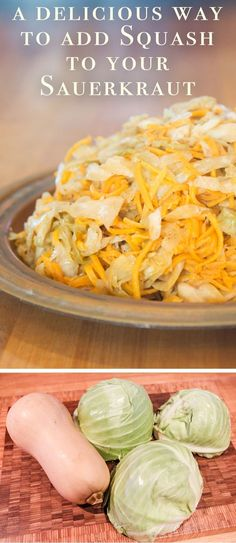 If you've been wanting to make Sauerkraut which incorporates Squash and a hint of cardamom, here's your big chance! Homemade Sauerkraut, Sauerkraut Recipes, Fermentation Recipes, Paleo, Squash Soup, Fermented Foods, Vegan, Recipe Collection, Cooking Recipes