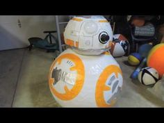 Star Wars Prop BB8 out of Paper Mache - YouTube