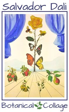 Salvador Dali Step-By-Step Watercolor Botanical Collage - Woo! Jr. Kids Activities