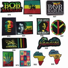4c8379df3 Bob Marley Rasta Punk Rock Band Music Peace T Shirt Iron On Embroidered  Patch