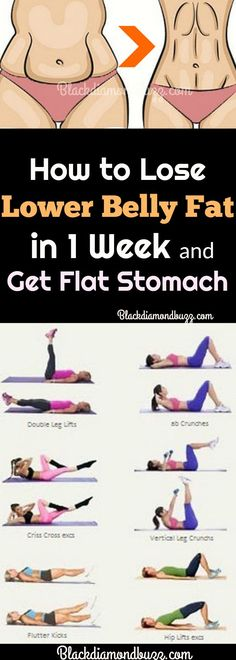 Workout Exercises: Lower Belly fat Workout for Flat Stomach - Get rid...