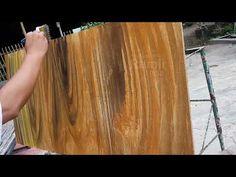 Membuat motif papan kayu - ini caranya - YouTube