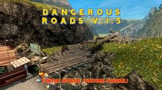 New map: Dangerous Roads v.1.5 for patch 1.20.1 &  1.21.1(Euro truck Sim...