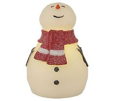 BethlehemLights BatteryOperated 7 Flameless Child Snowman with Timer