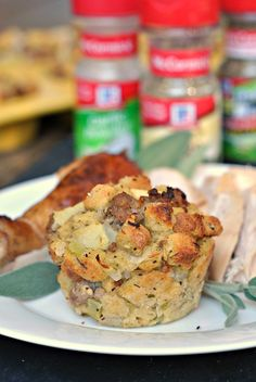 Travel-friendly stuffing! @preventionrd offers a turkey sausage stuffing muffin recipe that's an easy side to bring along to the Thanksgiving feast.