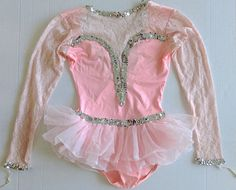 Cicci Sequin Lace Dance Figure Skating Dress Costume Leotard Women Teen Sz M #Cicci #DanceSkatingDress