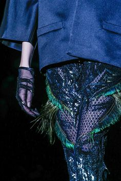 Fishnet with Feathers embellishments Pants #fashion #trends for Fall Winter 2013  Gucci F/W  2013