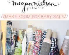 Megan Nielsen Patterns make room for baby SALE!