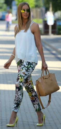 Floral Pants Styling by Style and Blog