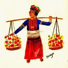 Palaung flower girl