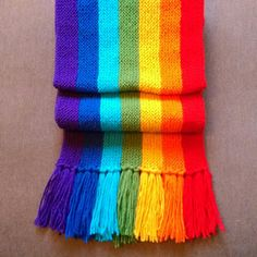 Rainbow scarf with free pattern