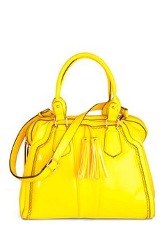 Yellow, My Dear Bag===Mod Cloth, AGAIN!  Now, normally I am more of a turquoise/tiffany blue type of girl, but I do like the bright summery color and the fact there is room for your tablet and other essentials.  I love totes/big bags...