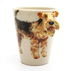 Airedale Terrier Gifts Ceramic 3D Mug Hand Painting Dog Lover Decorative Cup, Giles