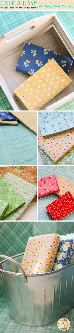 Calico Days by Lori Holt of Bee in my Bonnet for Riley Blake Designs is an adorable fabric collection available at Shabby Fabrics