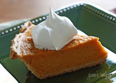 Maybe a good alternative to pumpkin pie this Thanksgiving