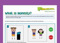 what is honesty kindergarten worksheet