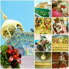 [ 12 Rajab 1437 ]  The Flowers Decorated inside the Imam Ali Holy Shrine