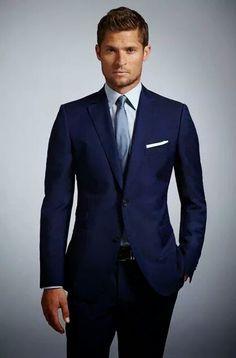 Fato de noivo azul, lindo!!!