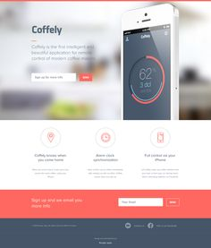 Coffely is the first intelligent and beautiful application for remote control of modern coffee makers. Flat Web Design, Minimal Web Design, App Design, Design Websites, Graphic Design, Modern Coffee Makers, Ipad, Ui Web, Site Internet