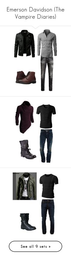 """Emerson Davidson (The Vampire Diaries)"" by azure-phoenix on Polyvore featuring Jack & Jones, Blondo, Snake & Dagger, Steve Madden, Doublju, Nudie Jeans Co., PRPS, AllSaints, Dr. Martens and TheLees"