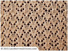 Lace knitting. Chart no.16