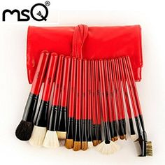 Dragonpad 18Pcs Goat Hair Cosmetic Brush Set With PU Case For Wholesale Fashion Beauty >>> Want additional info? Click on the image.