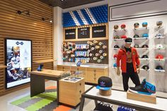 WOODEN STORE INTERIORS! adidas originals shop in shop at Footaction, Houston