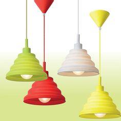 Tuti Taklampe -  Tuti er en morsom taklampe til barnerommet! Den er produsert i silikon og pvc og leveres i fire fine farger; hvit, rød, gul og eplegrønn. Kabel og takkopp er i samme farge som skjerm. Decor, Lamp, Ceiling Lights, Ceiling, Home Decor, Pendant Light, Light