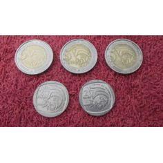 COINS : RSA - 3 X R5 20 YEARS FREEDOM 2014 / 2 X R2 10 YEARS FREEDOM 2004 Coin Values, 20 Years, Freedom, Coins, Liberty, Political Freedom