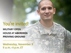 Stop by the Military Open House at Aberdeen Proving Ground on November 9 to learn more about UMUC and explore military and veterans education benefits. You can register at http://go.umuc.edu/2fLztYr.