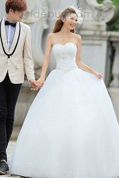Fantastic Ball Gown Sweetheart Beading Floor-length Wedding Dress : Tidebuy.com
