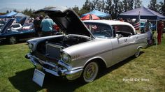 1957 Chevrolet Bel Air 4 door at Steve McQueen Car and Motorcycle Show 2016 http://www.specialcarstore.com/content/2nd-annual-steve-mcqueen-rally-may-20-21-2017